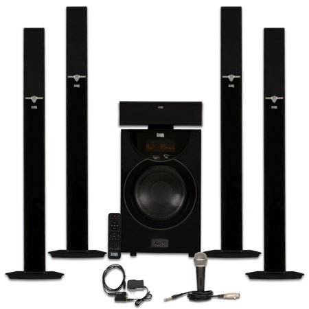 Acoustic Audio AAT2003 Tower 5.1 Home Theater Bluetooth Speaker System with Optical Input