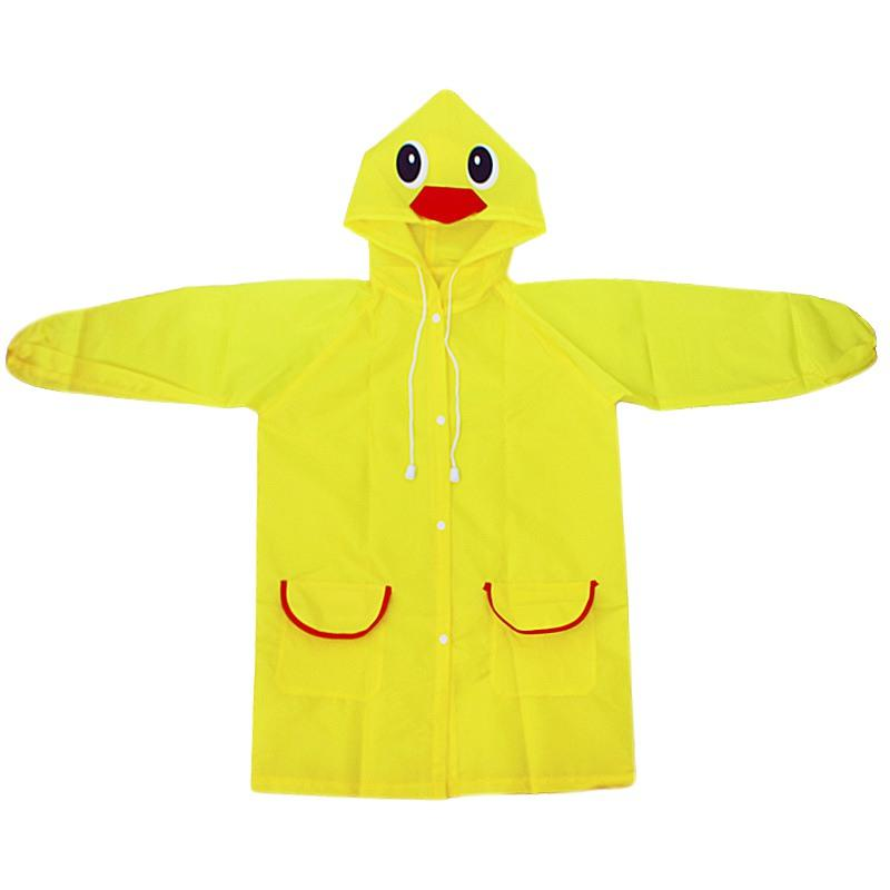 Children Cartoon Rain Coat Hooded Reusable for Toddler Spring Rainwear