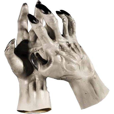 Grey Werewolf Hands Adult Halloween Accessory - Werewolf Hands