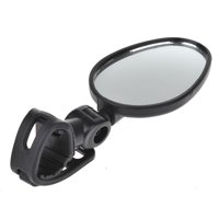 TSV Motorcycle Rear Mirror Motorbike Scooter Rearview Rear View Mirrors Universal New - Black