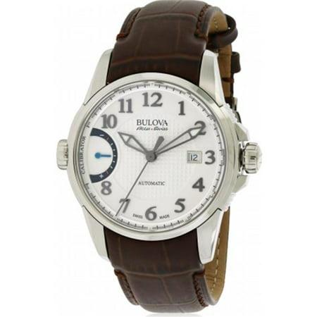 7154f2db3 Bulova AccuSwiss Calibrator Leather Automatic Mens Watch 63B171 - image 1  of 1 ...