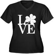 Women's Plus-Size Lovely Shamrock T-Shirt
