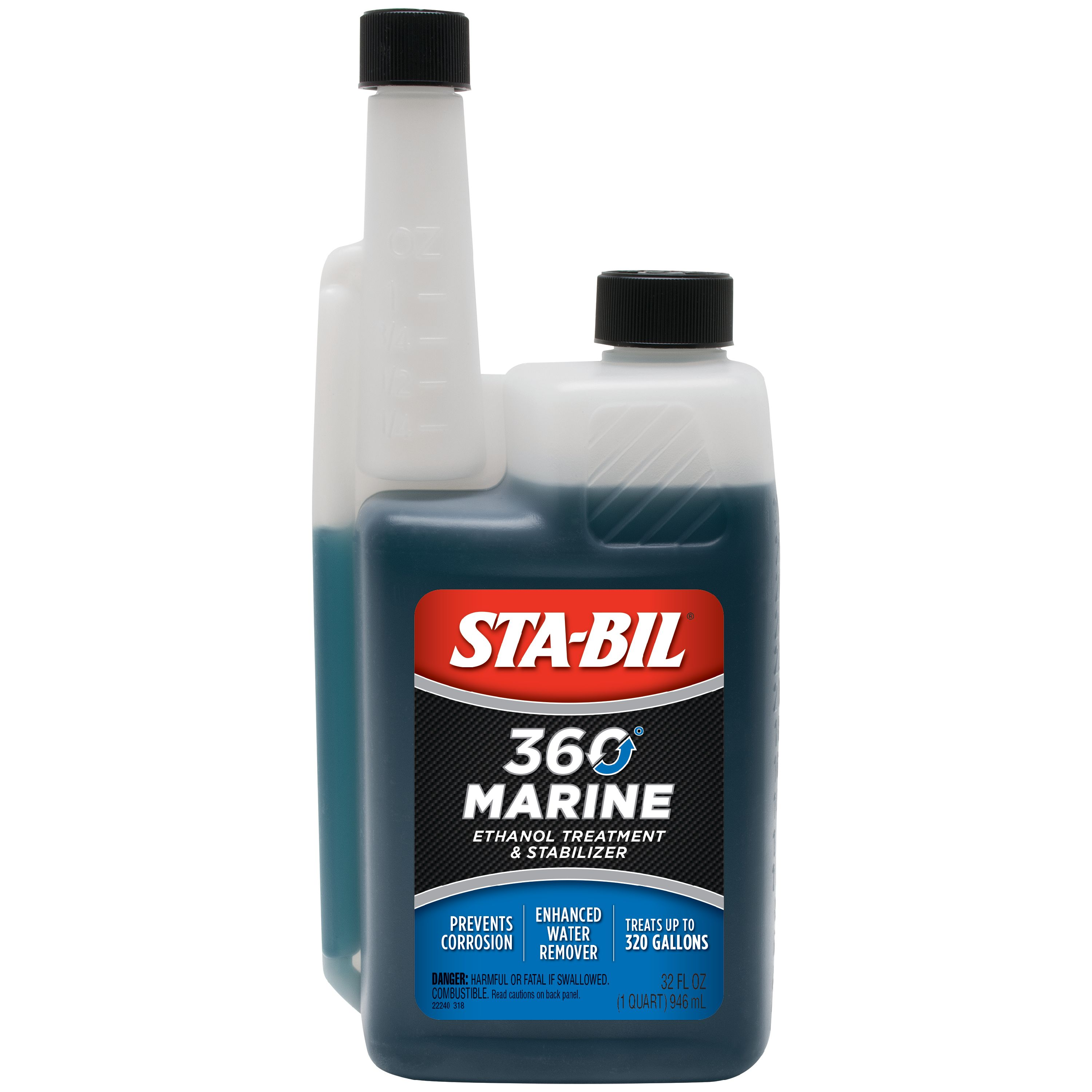 STA-BIL (22240) 360 Marine Protection and Ethanol Treatment, 32 oz.