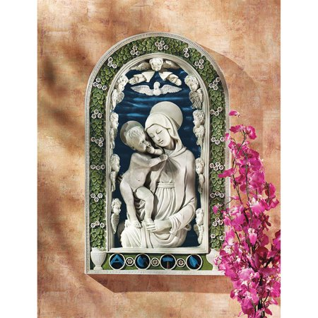 Child Sculpture - Madonna and Child Bas-Relief Wall Sculpture