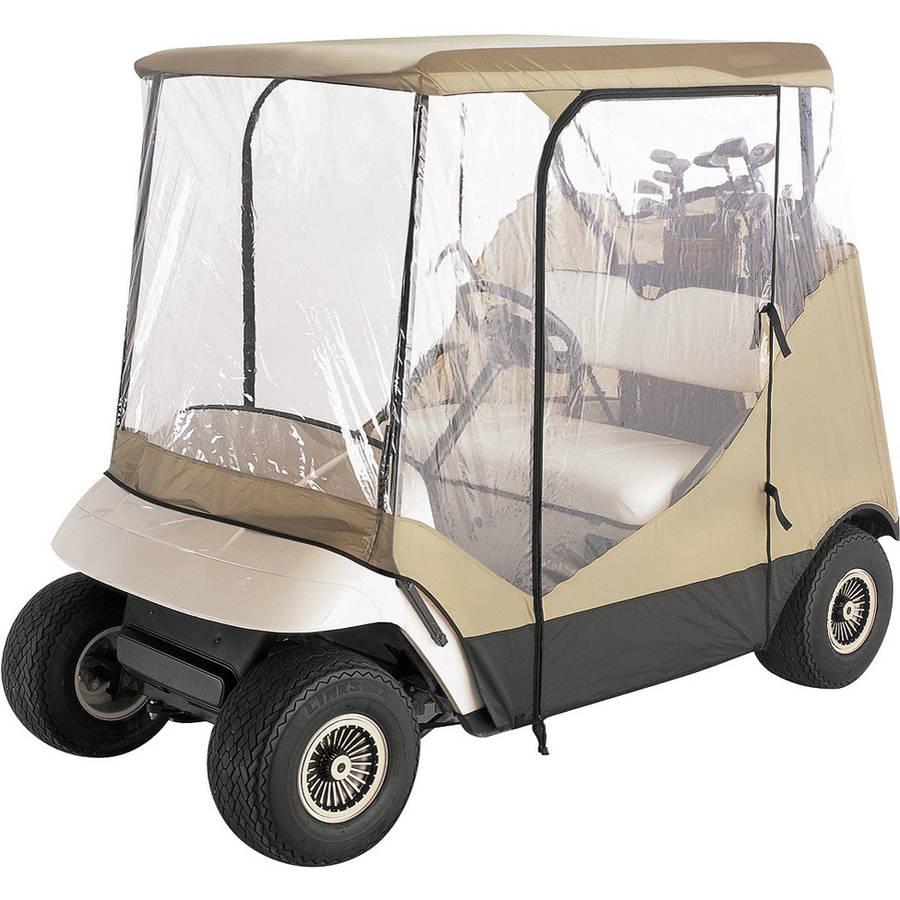 Budge Golf Cart Cover Vision Guard Fits 2-Person Golf Carts, UTV-910, Tan Polyester