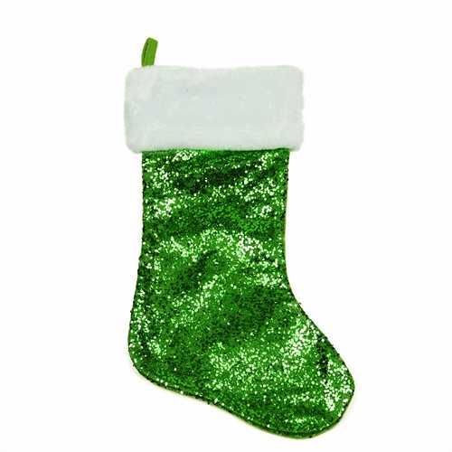 Northlight Seasonal Sequined Christmas Stocking with Faux Fur Cuff