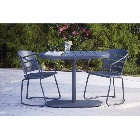 COSCO Outdoor Living 3 Piece Metro Retro Nesting Bistro Intellifit Steel Patio Furniture Set, Assembled, Multiple Colors Available ()