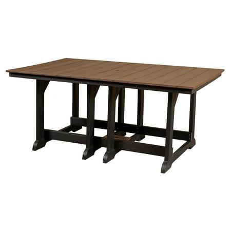 Wildridge Heritage Recycled Plastic 72 in. Rectangular Patio Dining Table (Plastic Patio Tables)