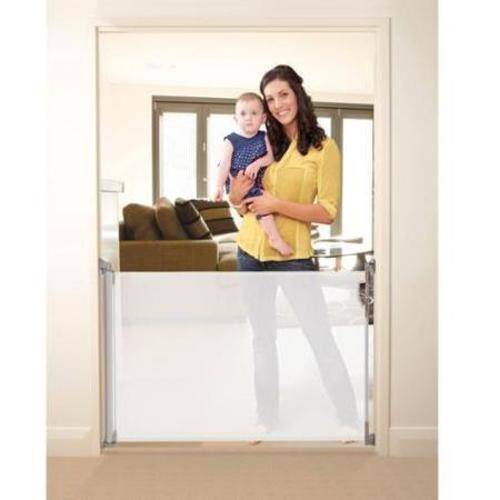 Dreambaby Retractable Indoor/Outdoor Security Gate, White