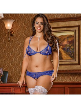 5248e17179e Product Image Magic Silk Sapphire Shimmer Bra   Shorts Set