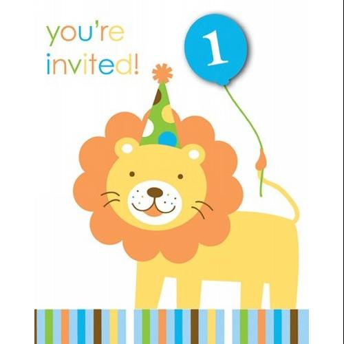 Sweet At One - Boy Invitations - 895100