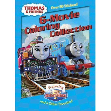 Jumbo Coloring Book Thomas And Friends 6 Movie Coloring Collection By Golden