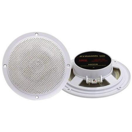 SOUND AROUND ELECTRONICS MDC6 5.25 Marine 100 Watts Dual Cone Waterproof Stereo Speakers