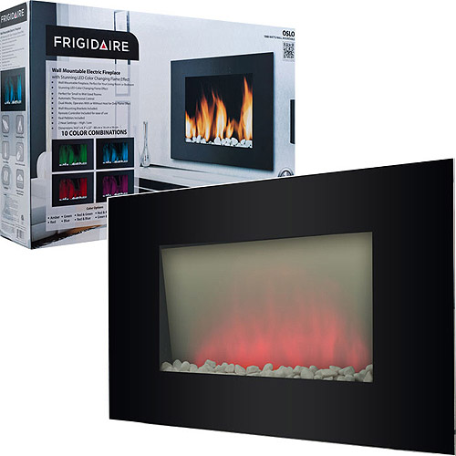 Warm House OWF-10303 Oslo Wall-Mounted LED Fireplace with Color-Changing Flame Effect