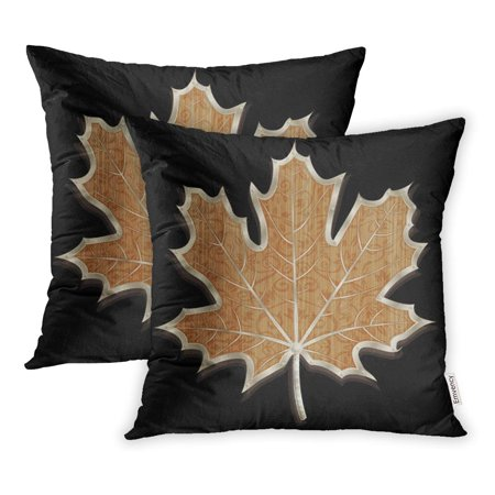 YWOTA Silver Artifact Hand Made Wooden Maple Leaf Metal Incrustation Artificial Pillow Cases Cushion Cover 18x18 inch