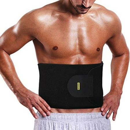 yosoo waist trimmer belt - neoprene waist sweat band for slimmer water weight loss mobile sauna tummy tuck belts