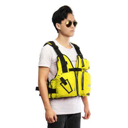 Universal Adult Breathable Fishing Safety Life Jacket Kayak Life Vest Nylon EPE Adjustable Swimming Sailing Boating Drifting Kayak Floating with Multi-Pockets & Reflective Stri - image 2 of 8