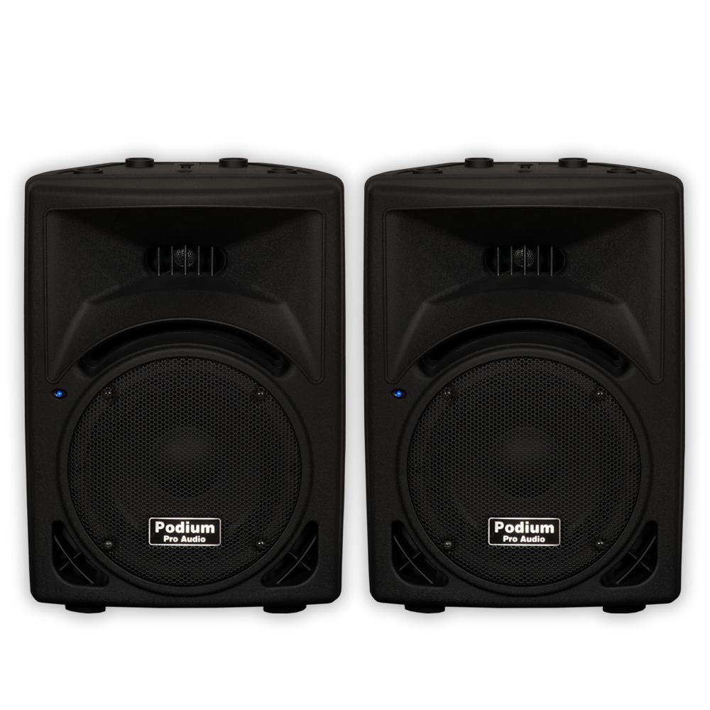 "Podium Pro PP810 Passive 8"" Speaker Pair 500 Watt 2 Way ABS PA DJ Karaoke PP810-PR"