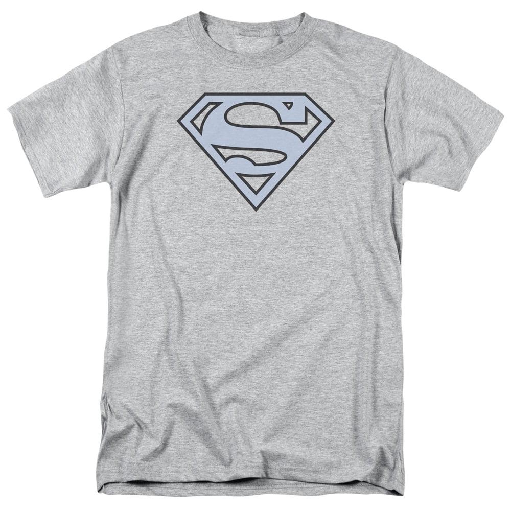 Superman Carolina Blue/&navy Shield Adult Tank Top