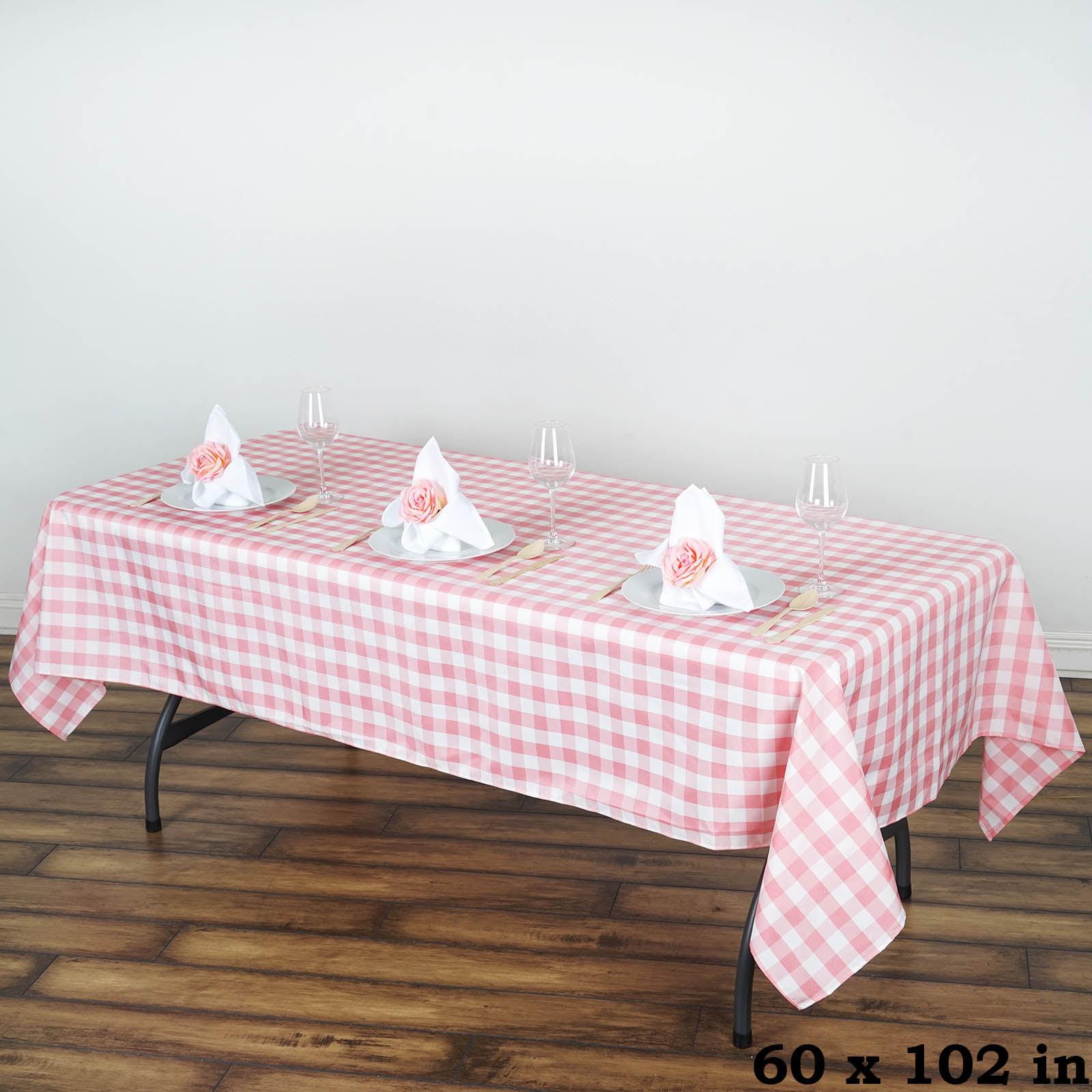 """BalsaCircle 60"""" x 102"""" Gingham Checkered Polyester Tablecloth for Garden Party... by BalsaCircle"""