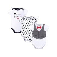 Little Treasure Baby Boy Short Sleeve Bodysuits, 3-Pack