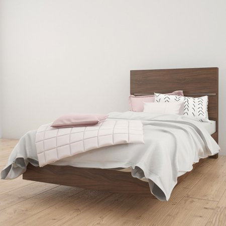 Nexera Alibi Platform Bed with Optional Modern Headboard