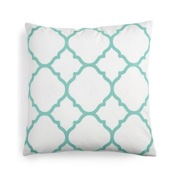 Charter Club Damask Designs 100 Pima Cotton Geometric 18 Inch Square Decorative Pillow White Walmart Com Walmart Com