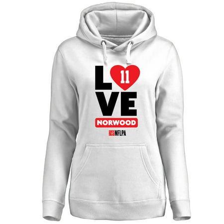 Jordan Norwood Fanatics Branded Women's I Heart Pullover Hoodie - White ()