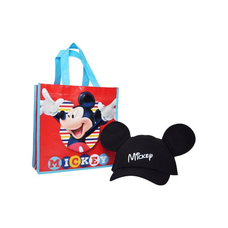 Boys Mickey Mouse Ears Hat with Tote Bag 2Pcs