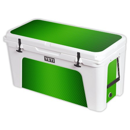 MightySkins Protective Vinyl Skin Decal for YETI Tundra 110 qt Cooler Lid wrap cover sticker skins Black Diamond Plate -  YETUND110-Lime Carbon Fiber