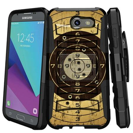 Reloading Rifle Bullets (Samsung Galaxy J3 Emerge Case | Galaxy J3 2017 Case | J3 Pro Case [ Armor Reloaded ] Heavy Duty Case with Belt Clip & Kickstand FireArm Collection)