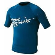 1210J16DD 1210J16DD; Basic Junior Short Sleeve Lycra Rash Guard Rashguard 16 Royal Blue