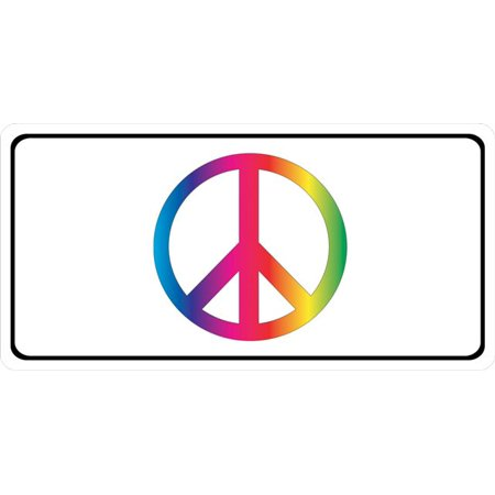 Peace Sign License Plate - Peace Sign Photo License Plate