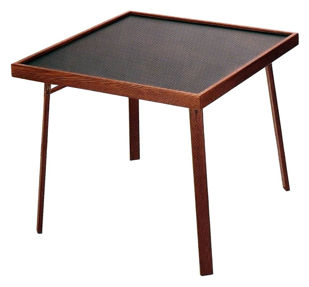 "Mainstays 34"" Square Fold in Half Table Black Walmart"