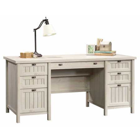 Sauder 2 Piece Executive Desk and Lateral File Set in Chalked Chestnut - image 4 of 5