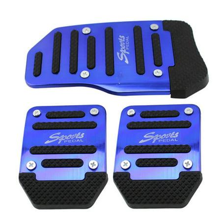 Automobile Anti-skid Foot Pedal Manual / Auto Gear Accelerator Brake Pedal Cover Treadle Set Universal Application Manual - Blue
