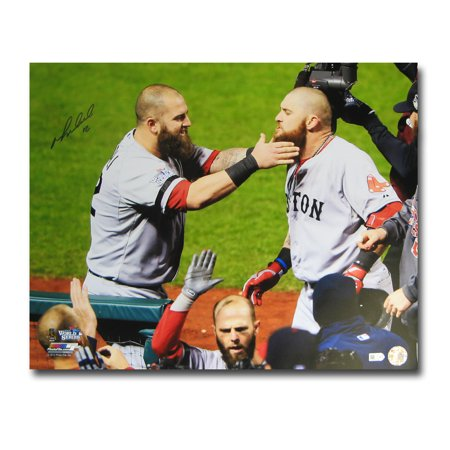Autographed Mike Napoli 2013 World Series Unframed