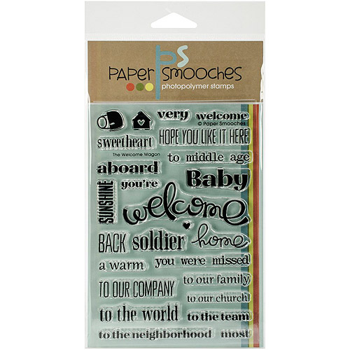 "Paper Smooches 4"" x 6"" Clear Stamps, Welcome Wagon"