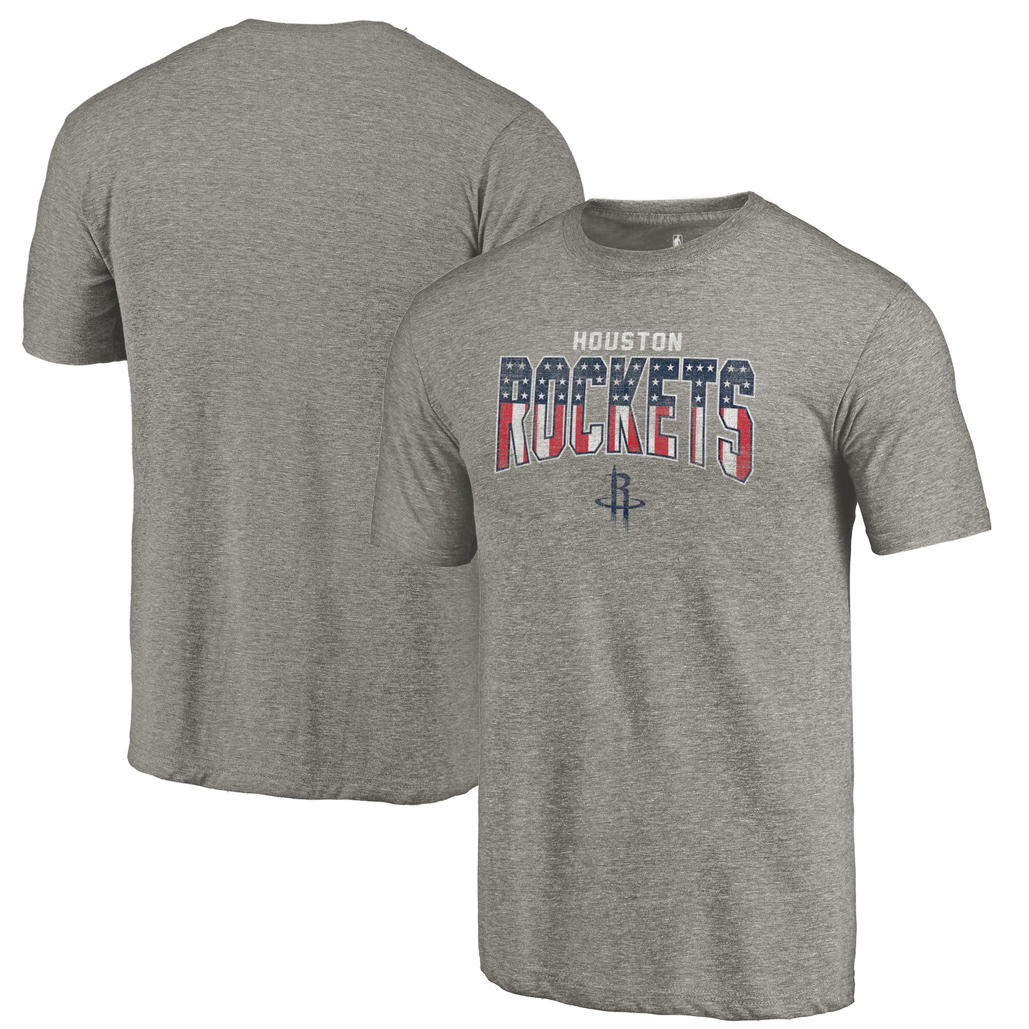 Houston Rockets Fanatics Branded Freedom Tri-Blend T-Shirt - Gray
