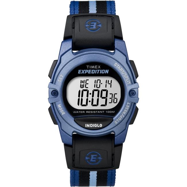 Unisex Expedition Digital CAT Mid-Size Watch, Blue Stripe Nylon Strap
