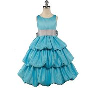 Good Girl Size 10 Turquoise 3 Tier Special Occasion Bubble Dress
