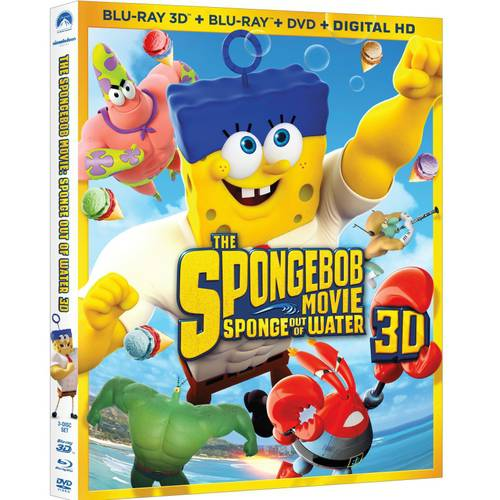 SPONGEBOB MOVIE-SPONGE OUT OF WATER (BLU RAY/DVD/3D/DIGITAL HD) (3-D)