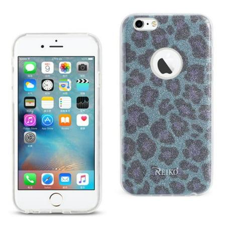 Glitter Leopard - REIKO IPHONE 6/ 6S SHINE GLITTER SHIMMER LEOPARD HYBRID CASE IN BLUE