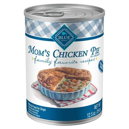 Blue Buffalo Family Favorite Grain-Free Chicken Pie Recipe Wet Dog Food, 12.5-oz, Case of
