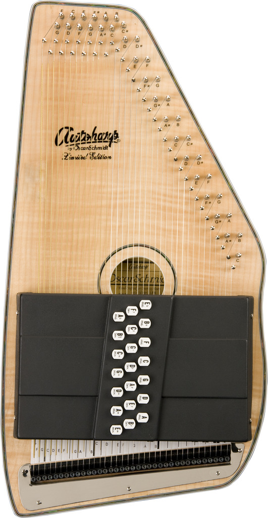 Oscar Schmidt 21 Chord Autoharp, Flame Maple Top, Natural Finish, OS11021FN by Oscar Schmidt
