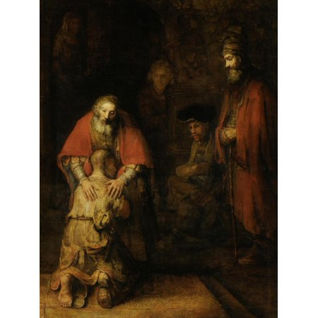 Return of the Prodigal Son, c. 1669 Christian Bible Parable Painting Print Wall Art](Prodigal Son Craft)