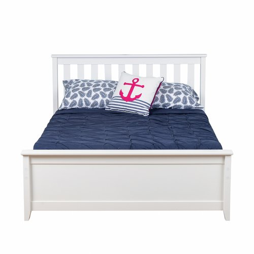 Max & Lily Solid Wood Full Platform Bed with Trundle Frame