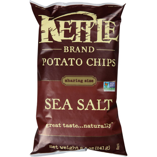 Kettle Brand Sea Salt Potato Chips, 8.5 oz, (Pack of 12)