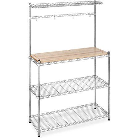 Whitmor Supreme Microwave Baker S Rack Brown And Silver