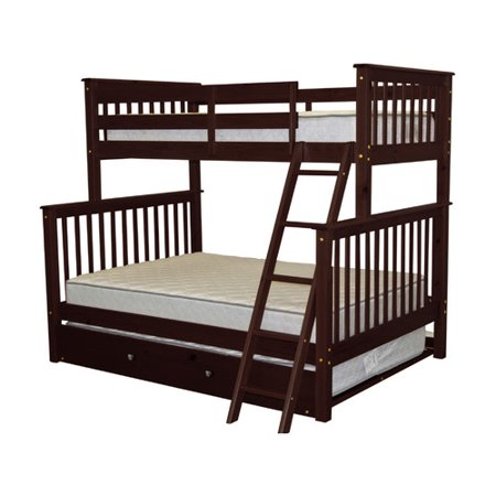 bedz king twin over full bunk bed with trundle. Black Bedroom Furniture Sets. Home Design Ideas